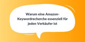 Amazon-Keywordrecherche