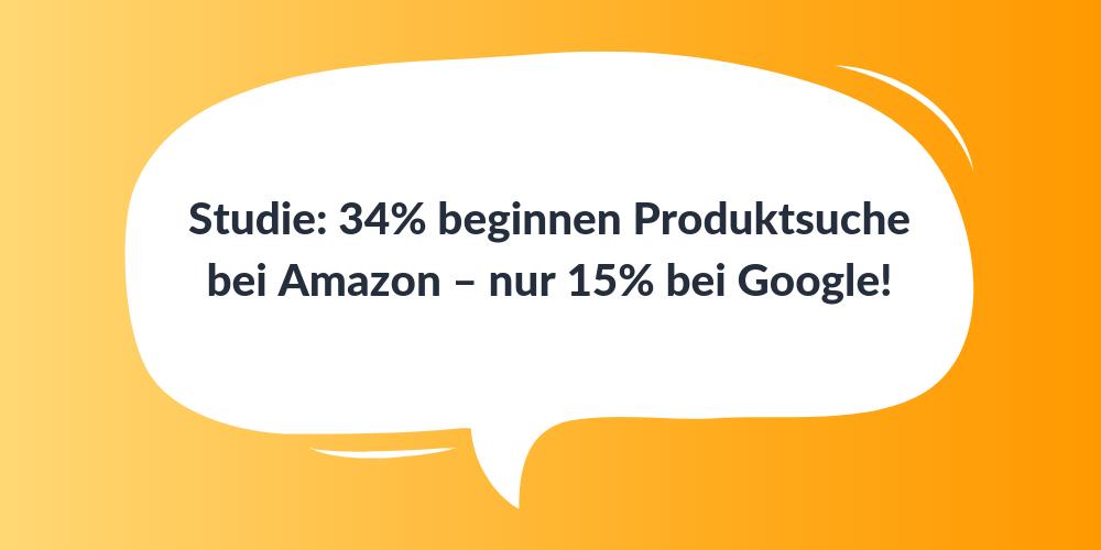 Studie: 34% beginnen Produktsuche bei Amazon – nur 15% bei Google!