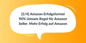 90% Umsatz Regel für Amazon Seller