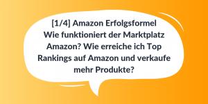 Wie erreiche ich Top Rankings auf Amazon