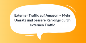 Externer Traffic auf Amazon