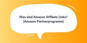 Amazon Affiliate Links