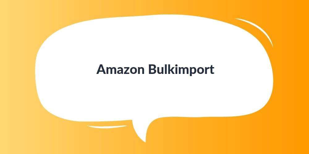 Amazon Bulkimport