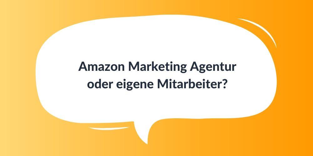 Amazon Marketing Agentur oder eigene Mitarbeiter?