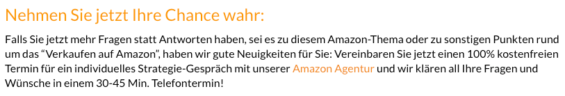 Nehmen Sie jetzt Ihre Chance wahr - Amazon Agentur